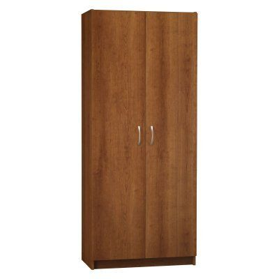 Ameriwood 7348025by Double Door Pantry 30 Inch Wide Cherry For Only 160 32 Pantry Storage Cabinet Double Doors Storage Cabinets