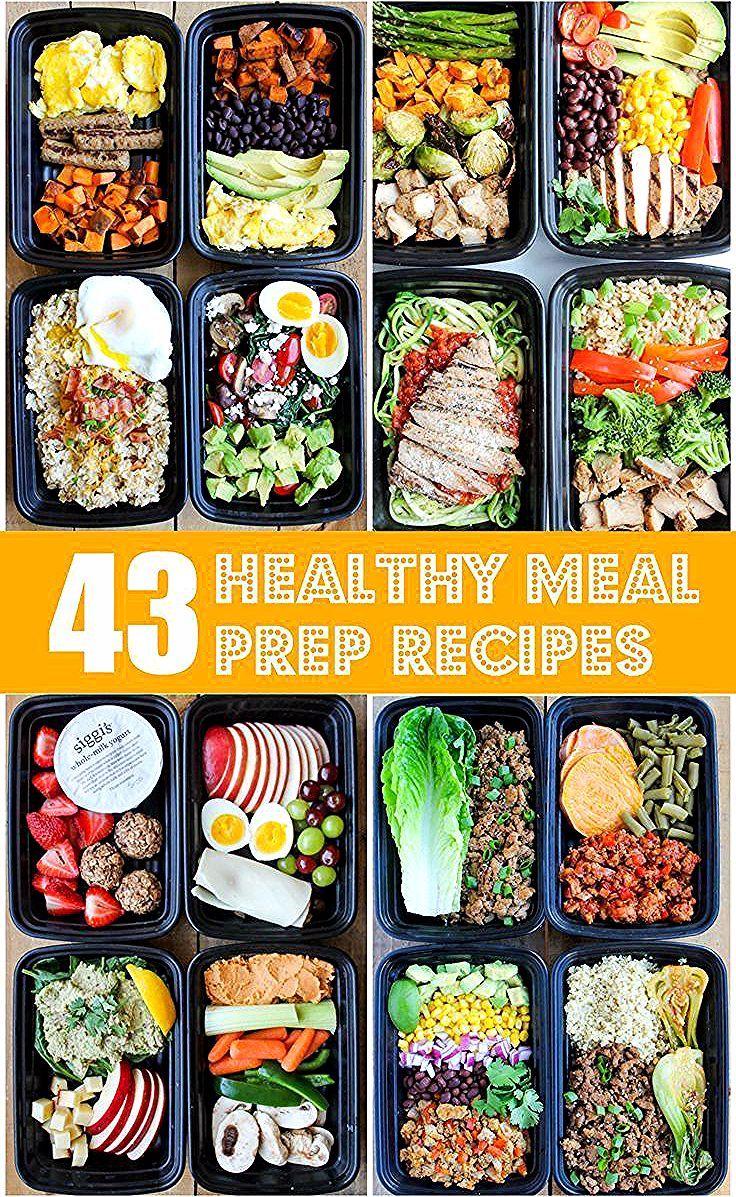 43 Rezepte für die Zubereitung gesunder Mahlzeiten, die Ihnen das Leben erleichtern, #pre …  – healthy eating