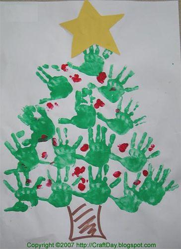 Hand Tree Kerst Pinterest Kerst Kerstmis En Kerst Knutselen
