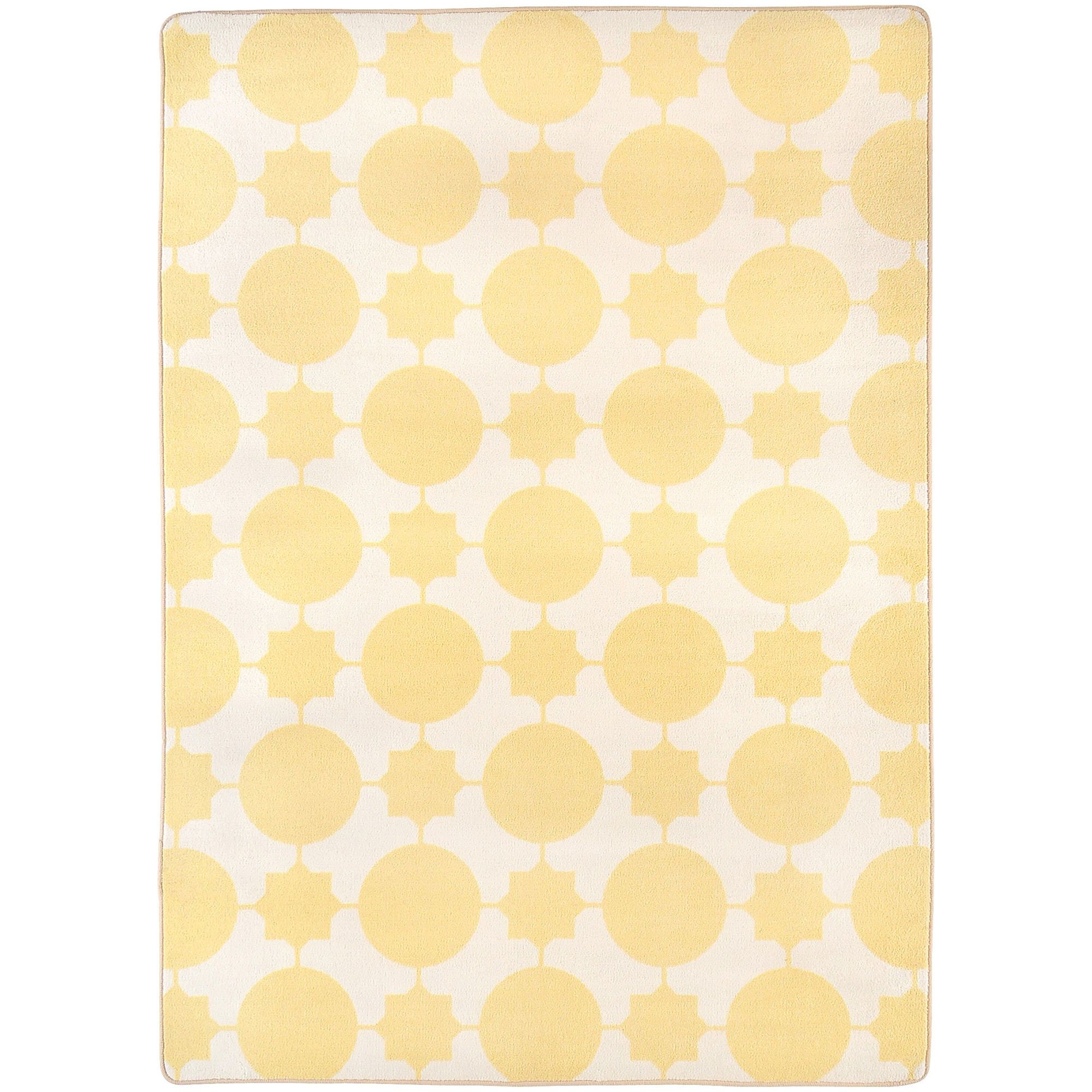 "flirty pale yellow kids rug 5'4"" x 7'8"" $200.00 