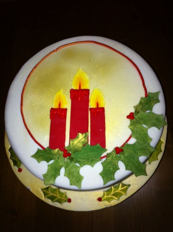 Christmas Cake Decorating Ideas Without Fondant : christmas cake Recipes - Cake Decorating Pinterest ...