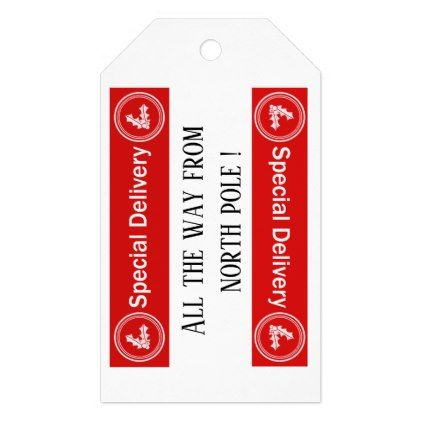 North Pole Gift Tag  Template Gifts Custom Diy Customize