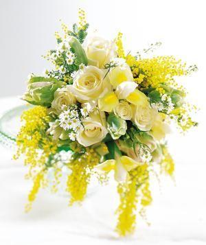 Bouquet Bridal Acacia Yellow Wedding Bouquet Yellow Wedding Flowers Yellow Wedding Bouquet Wedding Theme Colors