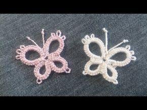 Chiacchierino Ad Ago - 24˚ Lezione Come Fare Una Farfalla Bijoux Tutorial Needle Tatting Butterfly - YouTube