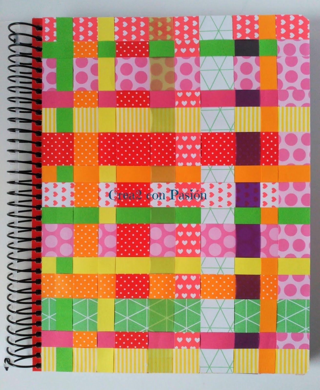 Cuaderno Decorado Con Cintas De Papel Y Cinta Doble Cara