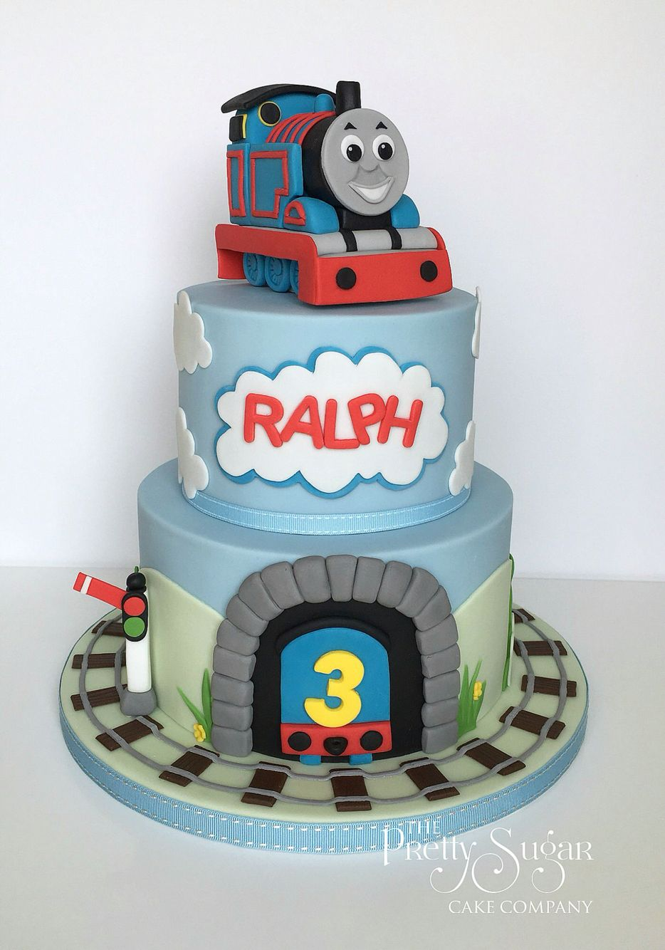 Fantastic Thomas The Tank Engine Birthday Cake Thomas Birthday Cakes Personalised Birthday Cards Sponlily Jamesorg