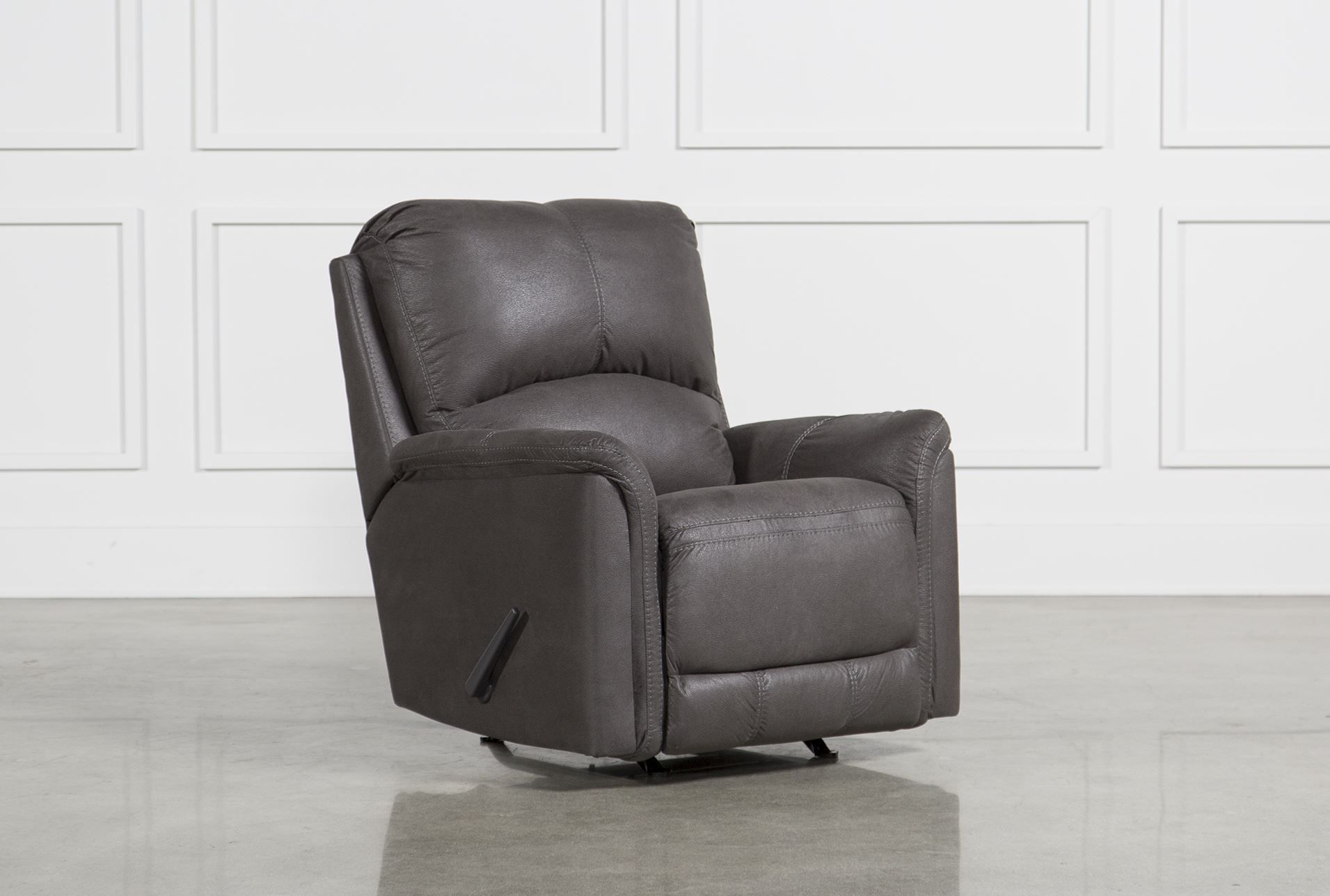 gray rocking chair recliner