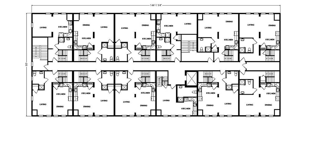Four Seasons Housing Floor Plans Typical Floor Plans For Four Seasons The High Rise Apartments In H Apartment Building Residential Building Plan Building Plans