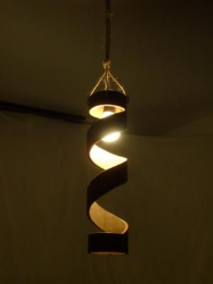 Cool pendant looks as if it's a DIY deal. (With images