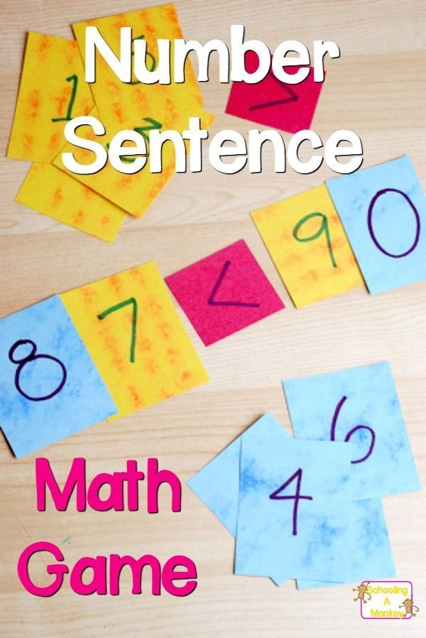 Easy Number Sentence Game For 1st 2nd Graders Homeschool Math