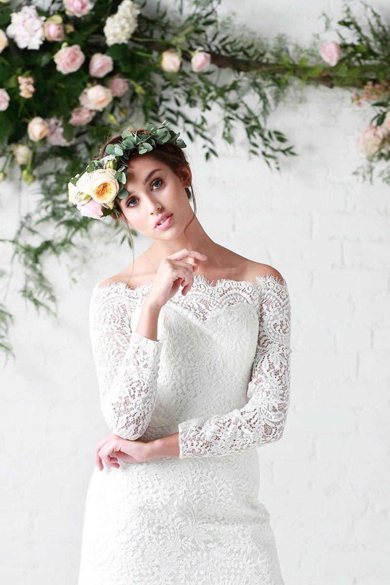 Maribel maribel cotton lace ivory across the shoulder