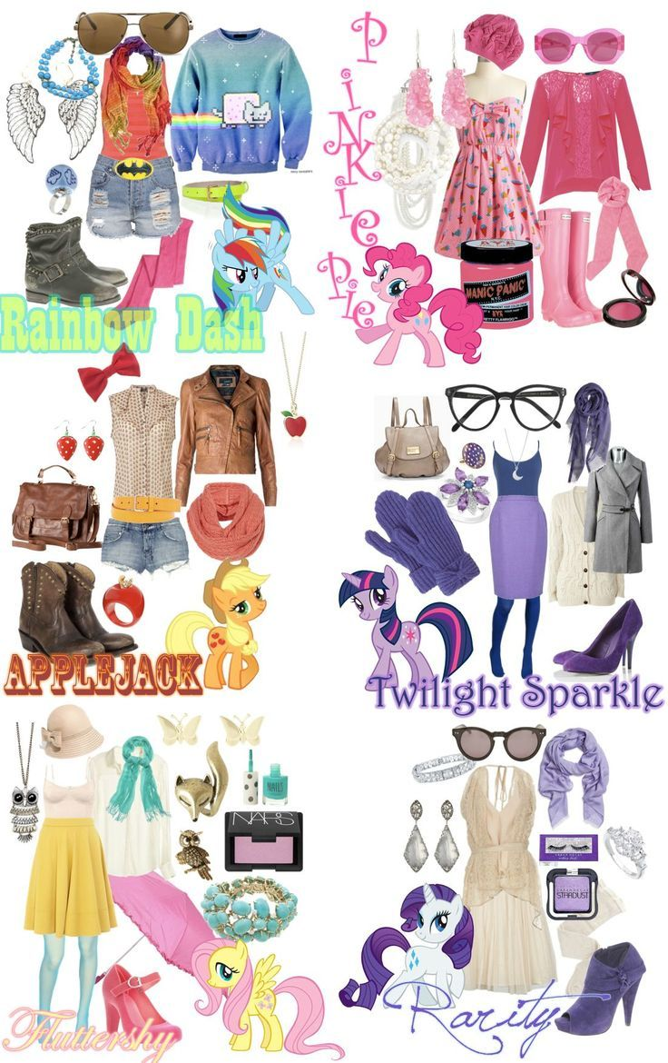Mane Six My Little Pony Friendship Is Magic Inspired Fashions From Polyvore Fluttershy Rarity