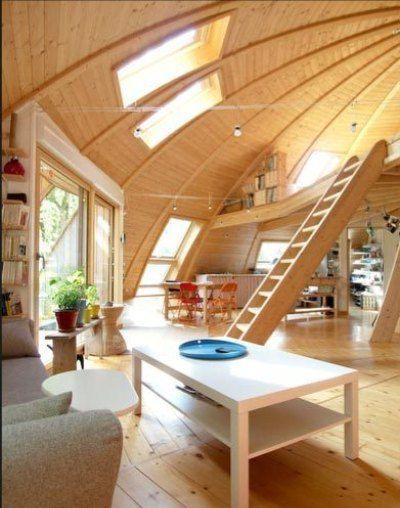 Domespace Home 목조주택 Pinterest Maison ronde et Maisons - construire une maison ecologique