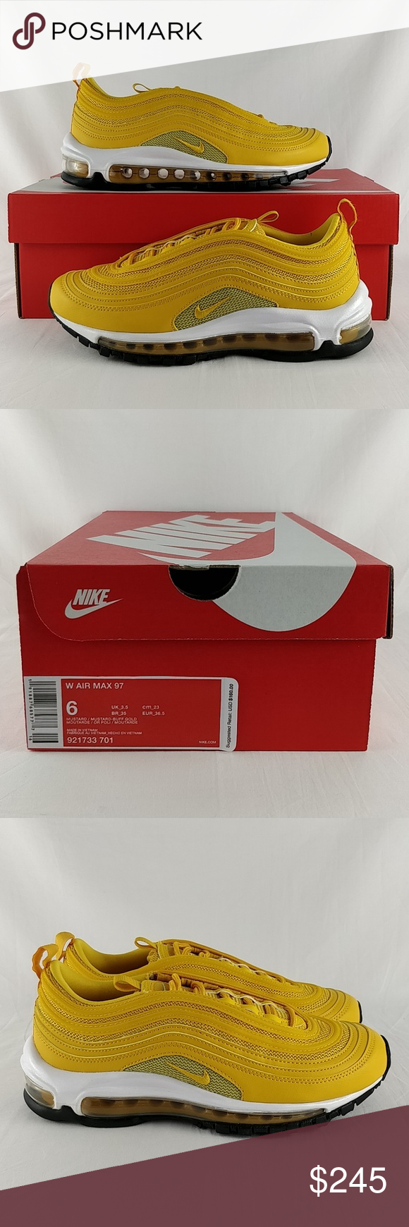 purchase cheap be0de 6cec0 Nike W Air Max 97 Mustard Buff Gold 921733-701 Nike W Air Max 97  Mustard Buff  Gold  Women s sizes 6 and 7.5 Brand New in Box. Any questions or concerns,  ...
