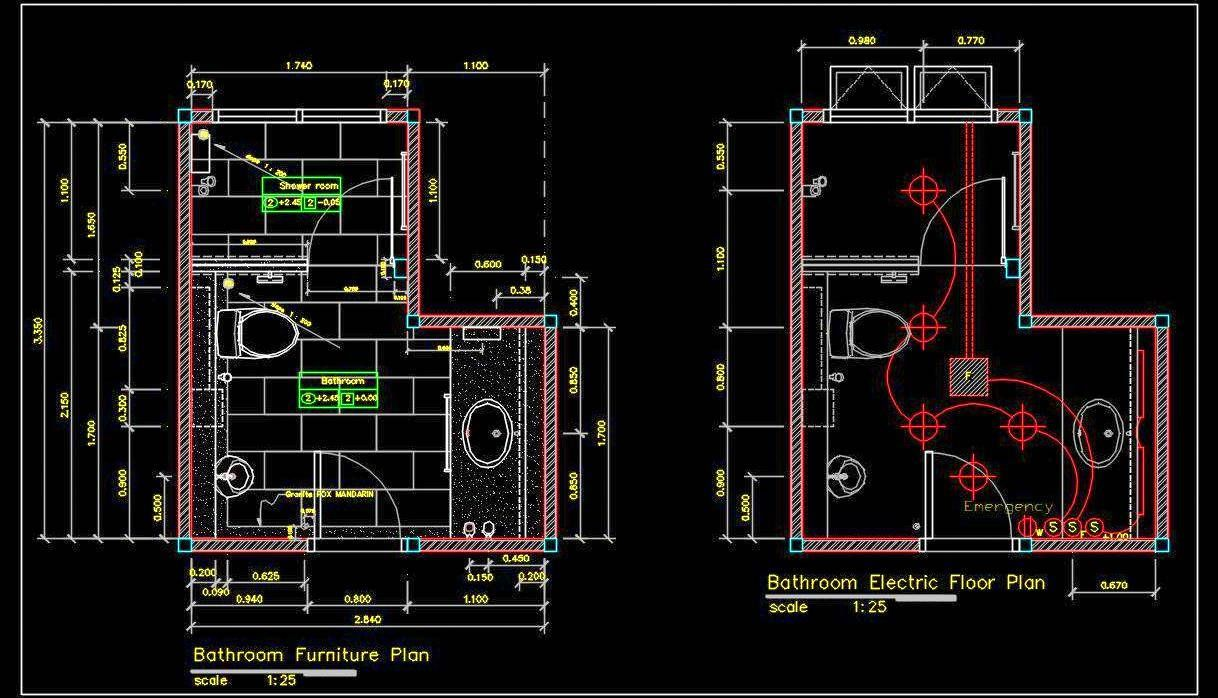 Toilet Plan Detail Dwg File Free Download Toilet Plan Master Bathroom Plans Glass House Design