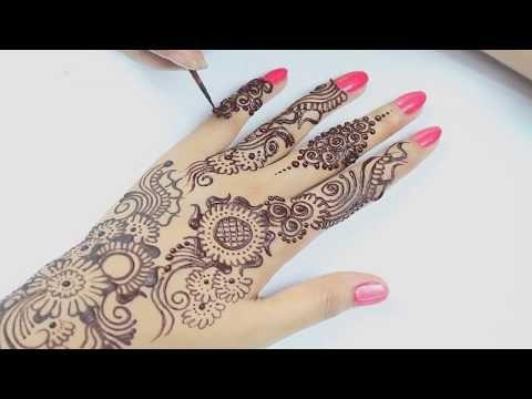 Henna Mehndi S : How to apply shaded arabic mehendi henna design tutorial shading
