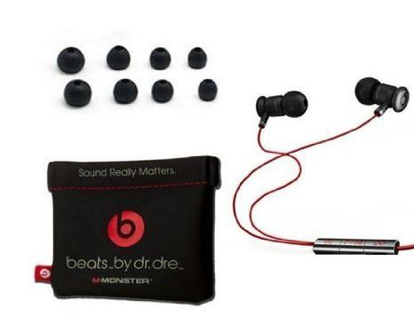 Music Headphones - Pin it :-) Follow us, CLICK IMAGE TWICE for Pricing and Info . SEE A LARGER SELECTION of music headphones at http://azgiftideas.com/product-category/music-headphones/  - gift ideas - Beats by Dre Earbuds / Headphones with Mic and Playback Controls (Black / Red)