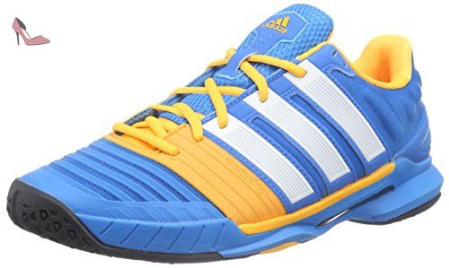 new products e608c 9b0bf adidas Adipower Stabil 11, Chaussures de handball hommes - Bleu - Blau  (solar blue2