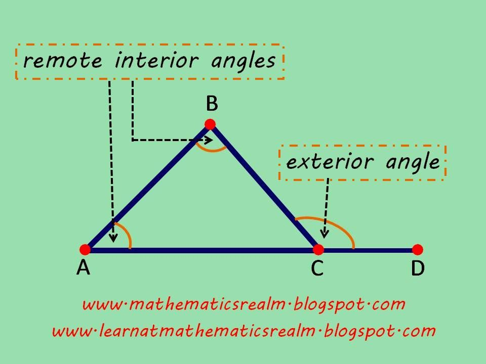 EXTERIOR ANGLE THEOREM (Part 1: Exploration) | Mathematics Blogs ...