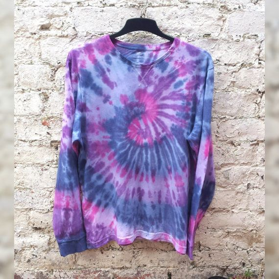 Bleach Tie Dye Sweater Mens Jumper Long Sleeve Tee ALL SIZES Gift for Him Summer Festival Mens Clothing Hippy Man Boho Gifts E390b0G3Gd