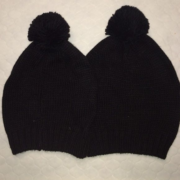 Two black beanies New black beanies! The one on the right fits a little more 75eb4856dbe2