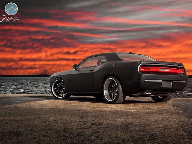 Dodge Challenger Srt8 Infused With Matte Black Dodge Challenger