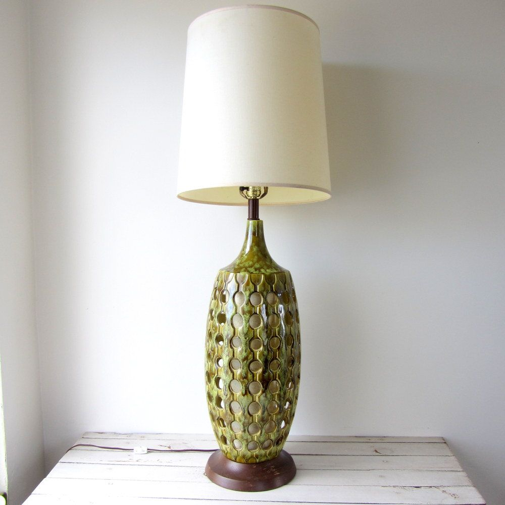 Vintage large mid century modern ceramic lamp 17000 via etsy vintage large mid century modern ceramic lamp 17000 via etsy geotapseo Image collections