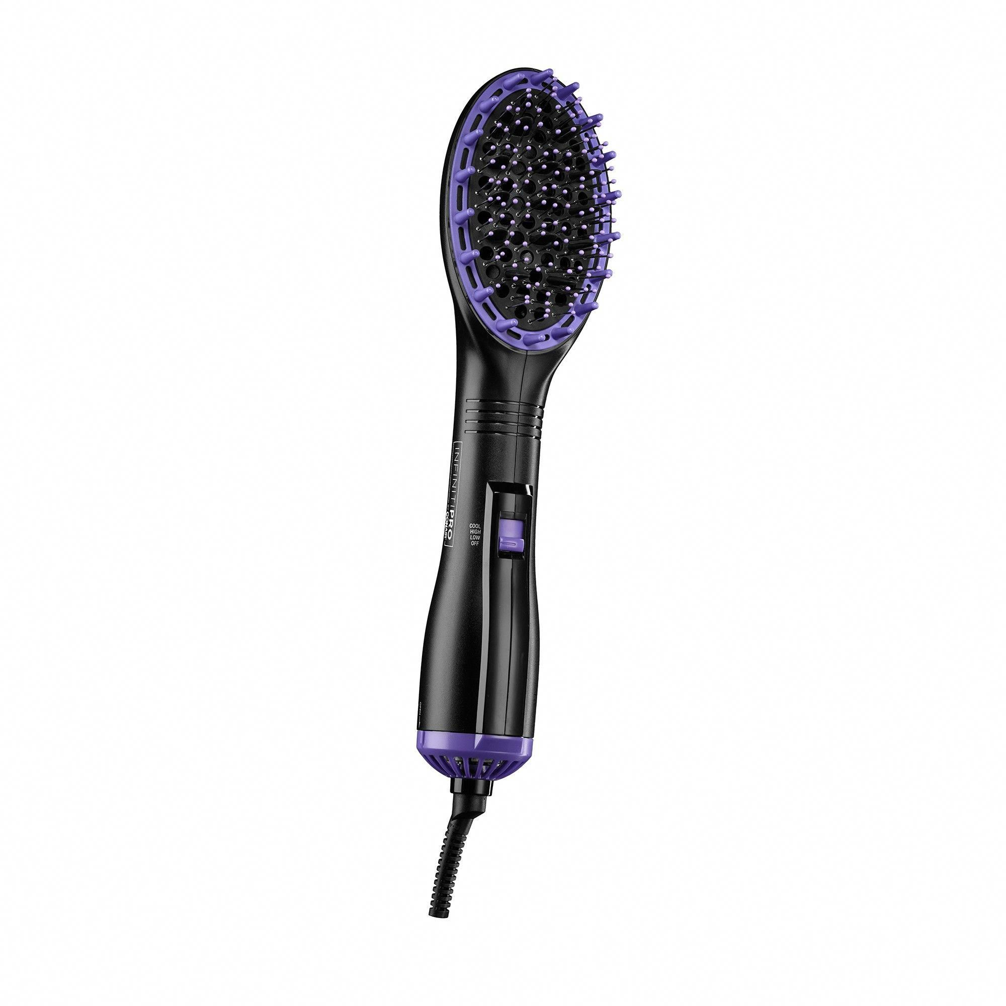 Conair InfintiPro Dry & Style Hot Air Paddle Brush, Black