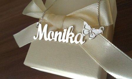 Verižica z imenom Monika http://bromelia.si/zenski-nakit/ogrlice/ogrlice-z-imenom