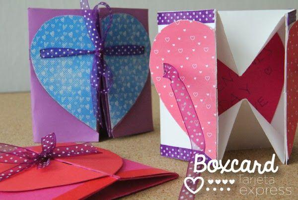 BoxCard Caja-tarjeta 2 en 1 para enamorados Cosas para ponerse