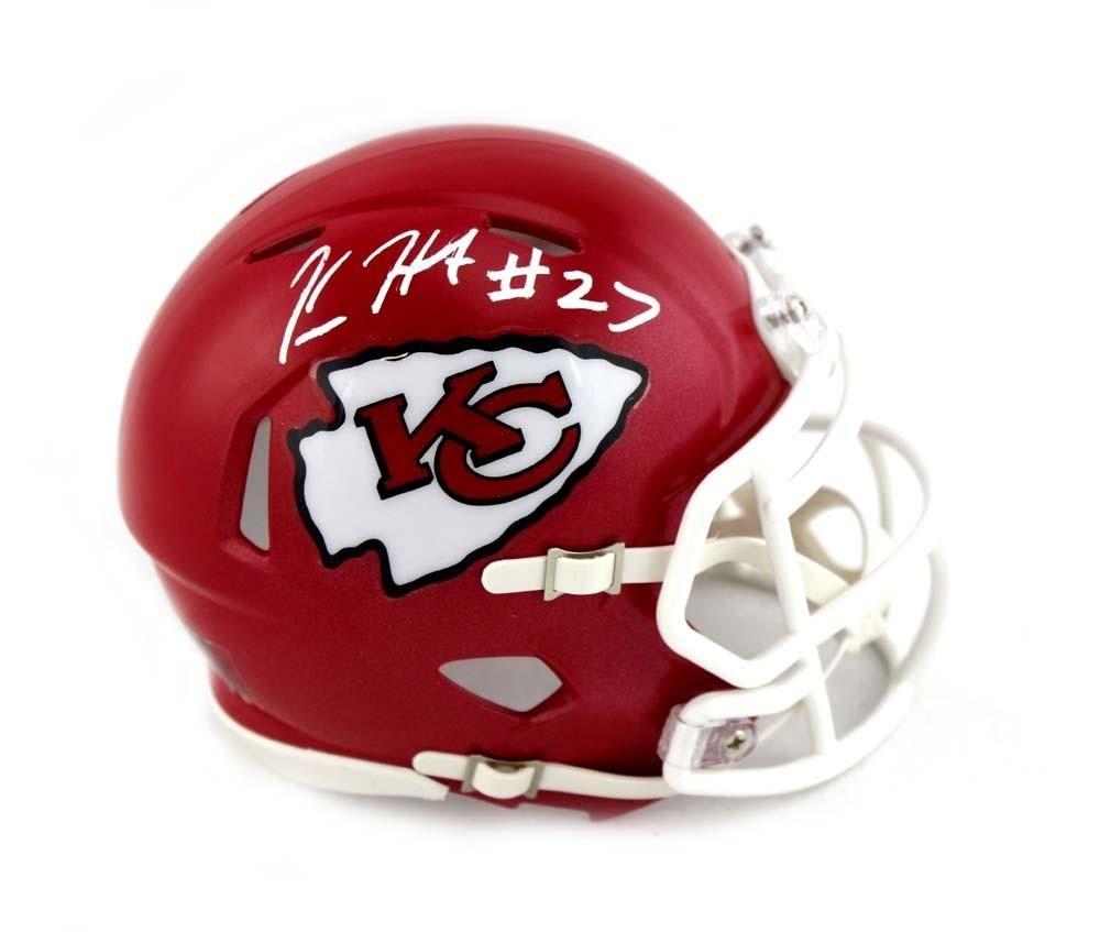 a4ef512f3a7 Kareem Hunt Signed Kansas City Chiefs Riddell Speed Mini Helmet Helmet