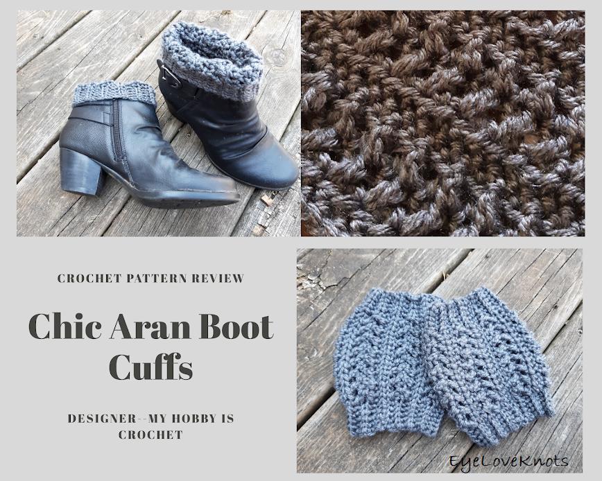 Chic Aran Boot Cuffs – Crochet Pattern Review – My Hobby is Crochet