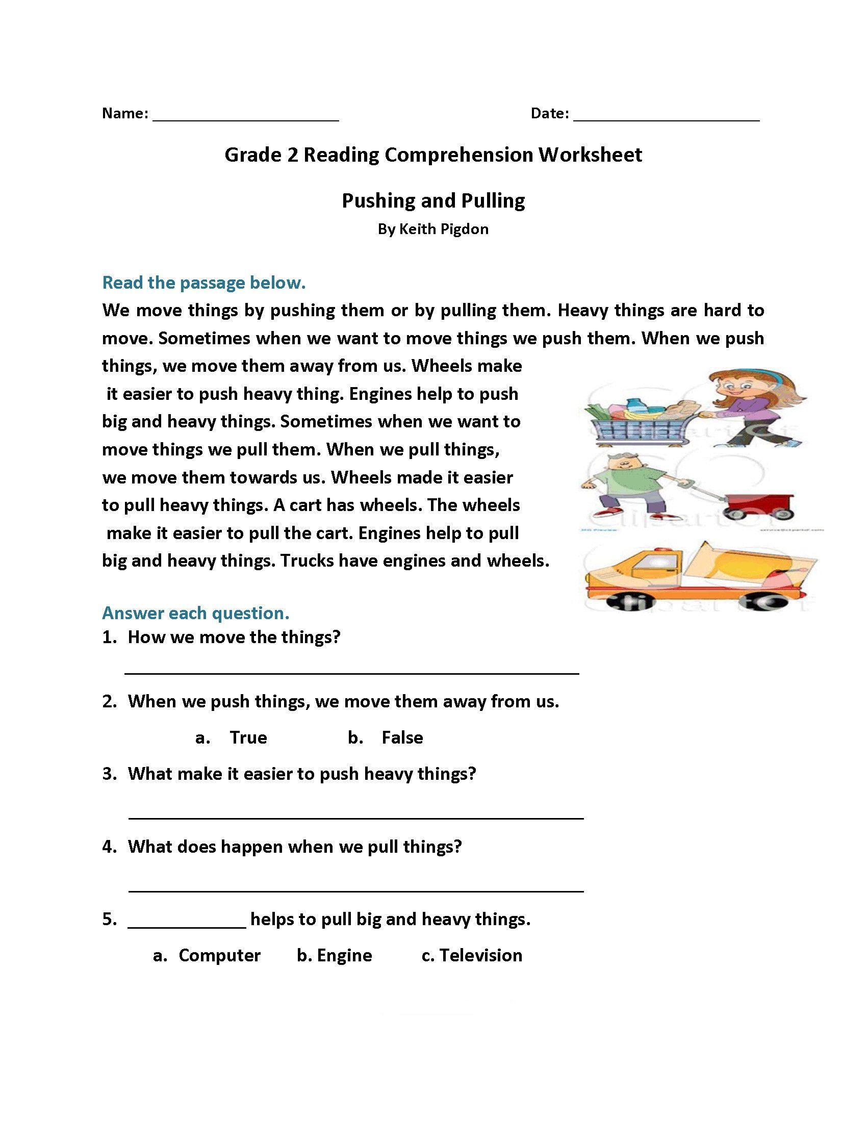 Free 2nd Grade Comprehension Worksheets Math Worksheet 2nd Gradeading Wo In 2021 Reading Comprehension Worksheets Comprehension Worksheets 2nd Grade Reading Worksheets [ 2200 x 1700 Pixel ]