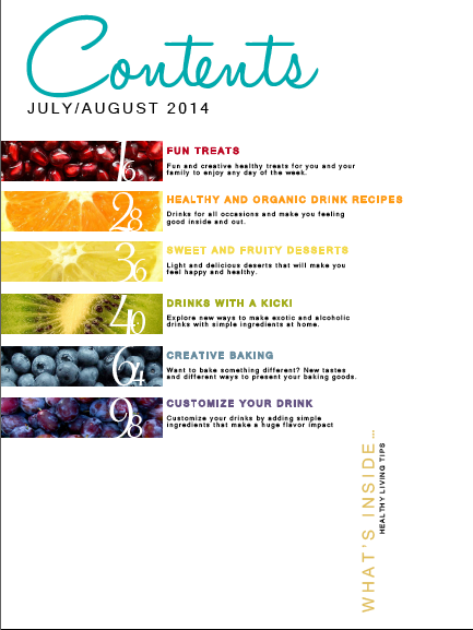 Magazine Layout: Table of Contents 2/3 | My Graphic Design ...