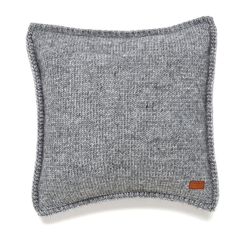 Gant Solid Knit Kissenbezug 50 X 50 Cm Grau Coussin Gant