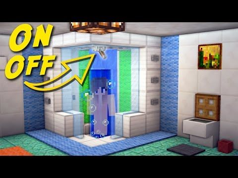minecraft how to make a working shower bathroom tutorial for house minecraft servers