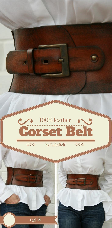 56844be7a3d Leather corset belt for women Wide waist belt Western belt Waist ...
