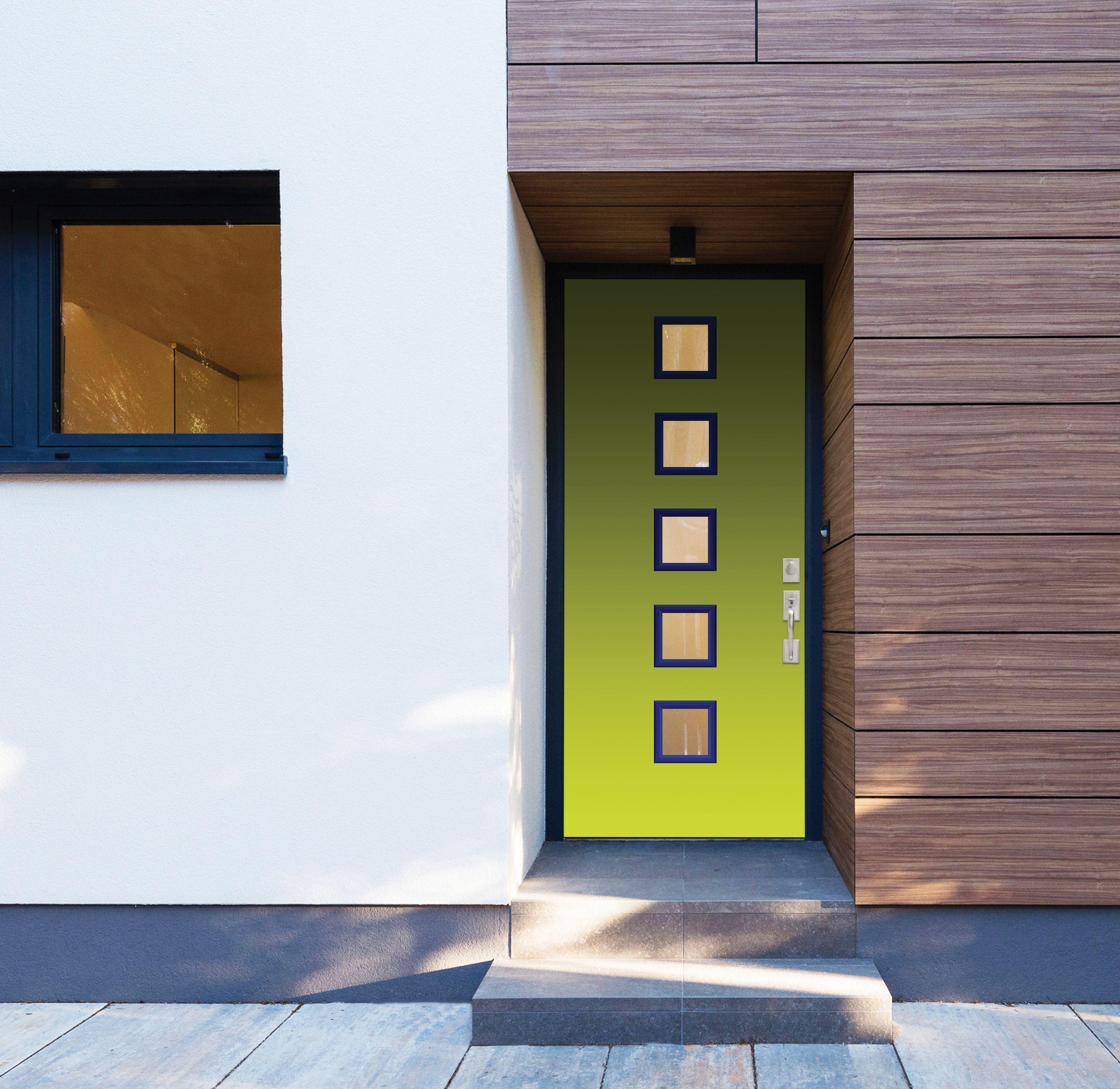Masonite HD Steel Modern Green Door | Masonite® Exterior Doors in on
