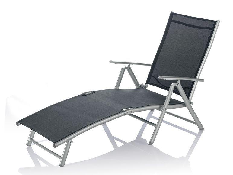Florabest Aluminium Liegestuhl Grau 1 Liegestuhl Aluminium Stuhle