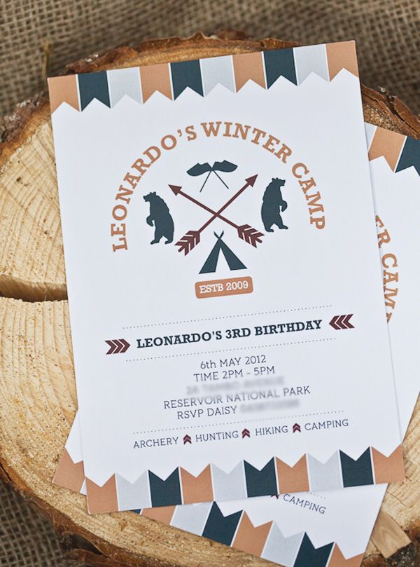 Super Cute {Backyard} Winter Camping Party   Party invitations ...