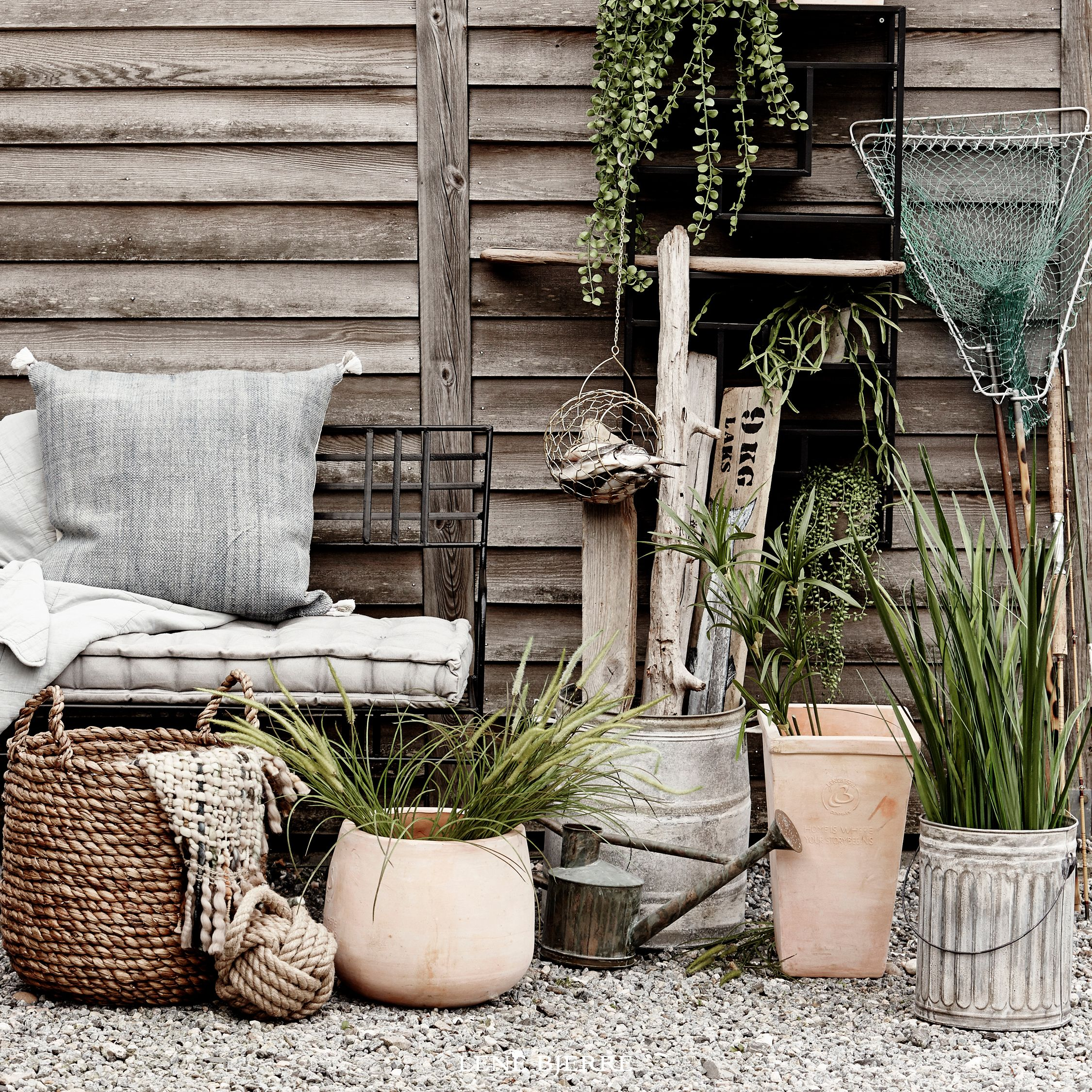 Outdoor flower pots from the Lene Bjerre spring/summer Collection. SS17.