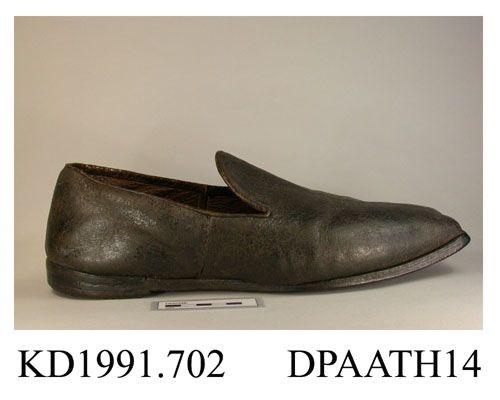 Men's Black Leather ca. 1830-1840