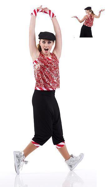 Details About Holiday Wrap Dance Costume Hip Hop Pants Top