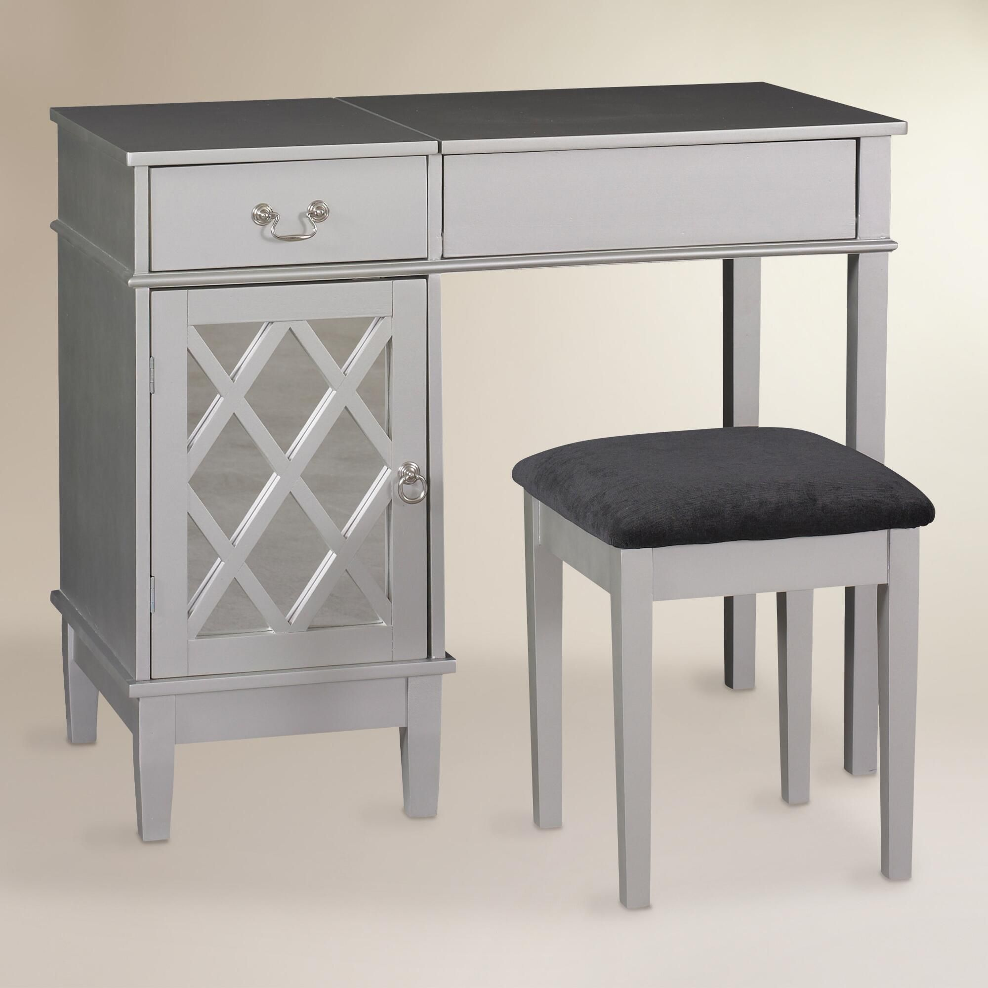 Modern dressing table mirrors silver wood arlene vanity set  dressing tables vanities and dressings
