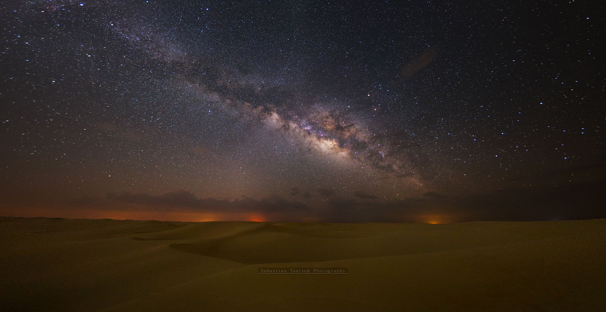 The Milky Way Over The Desert At Night 2048x1056 R Earthporn Nature Photos Background Hd Wallpaper Milky Way