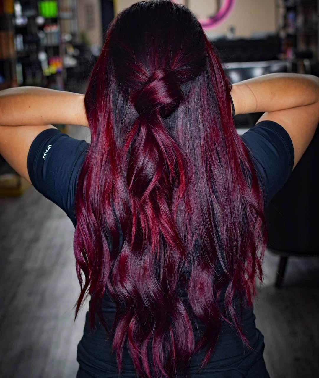 red is the trend color for autumn 40 beautiful inspirationsautumnBalayage red is the trend color for autumn 40 beautiful inspirationsautumn Clamp in diagonally twist 360...