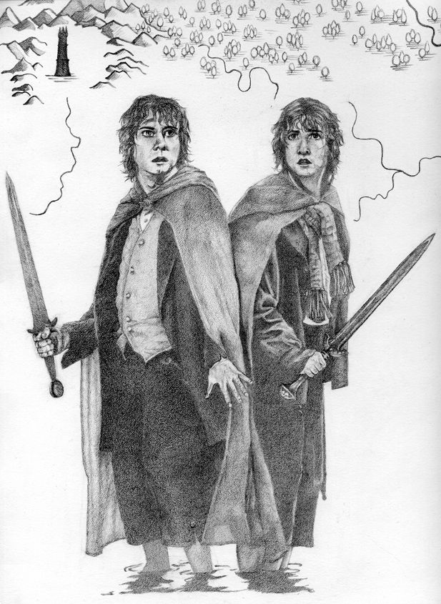 Mischievous Hobbits by *Limlight on deviantART