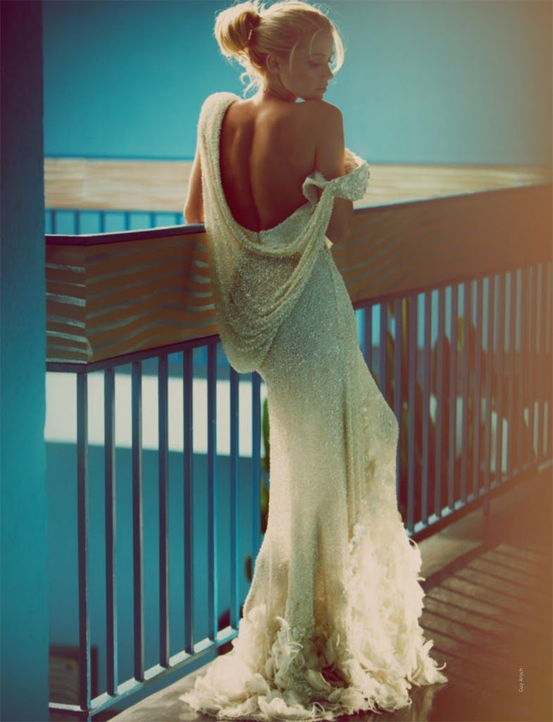 Most revealing wedding dresses ever  Kinda looks like curtains but so incredibly beautiful  Girly Girl