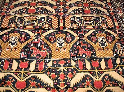Vintage Afghan Warier Tribal Carpet Russian War Tree Of Life Rug 6x4 Ben82 Ebay