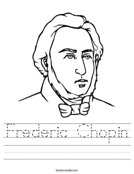 Chopin Worksheet Music Coloring Elementary Music Lessons Music